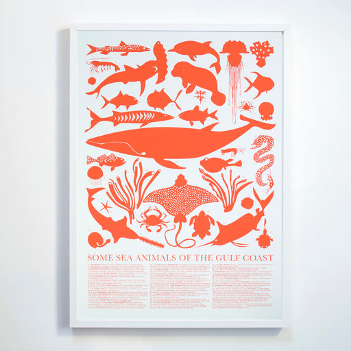 Banquet Workshop's Gulf Coast Sea Animals Screen Print