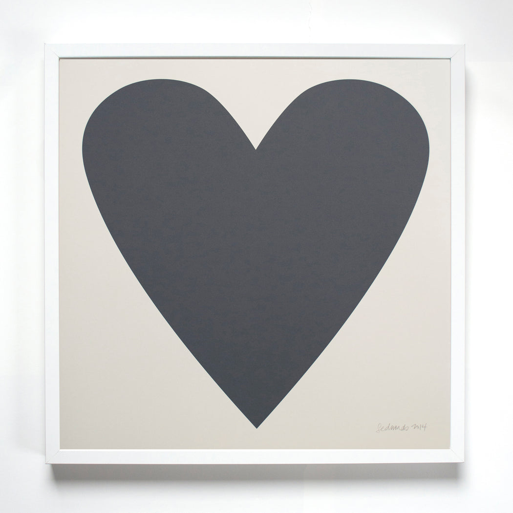 Black Heart Screen Print from Banquet Workshop