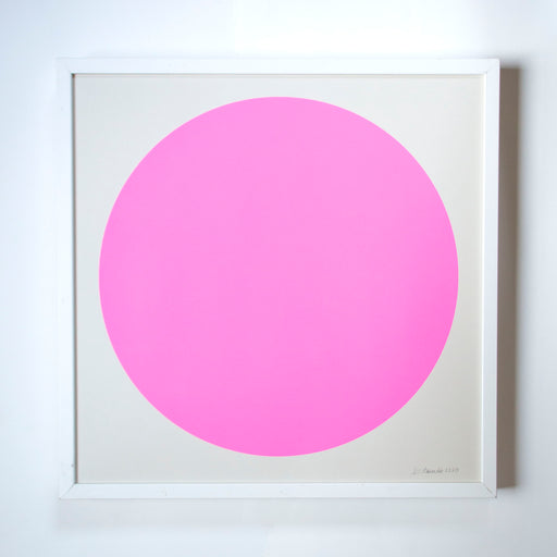 The Neon Pink Sun Screenprint