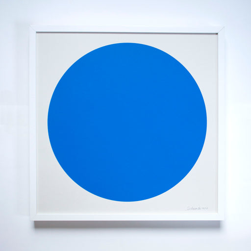 bright blue circle print on archival paper