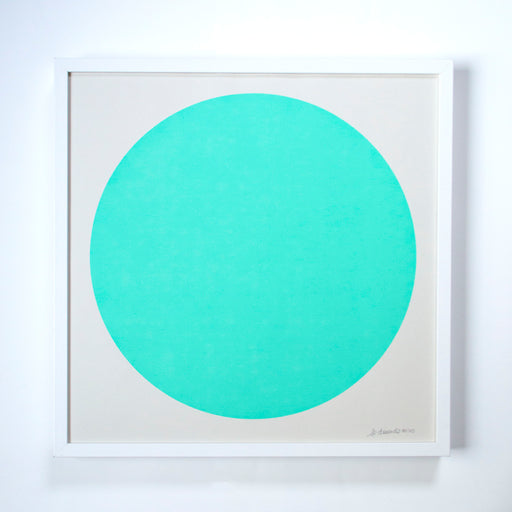 The Aqua Green Sun Screenprint