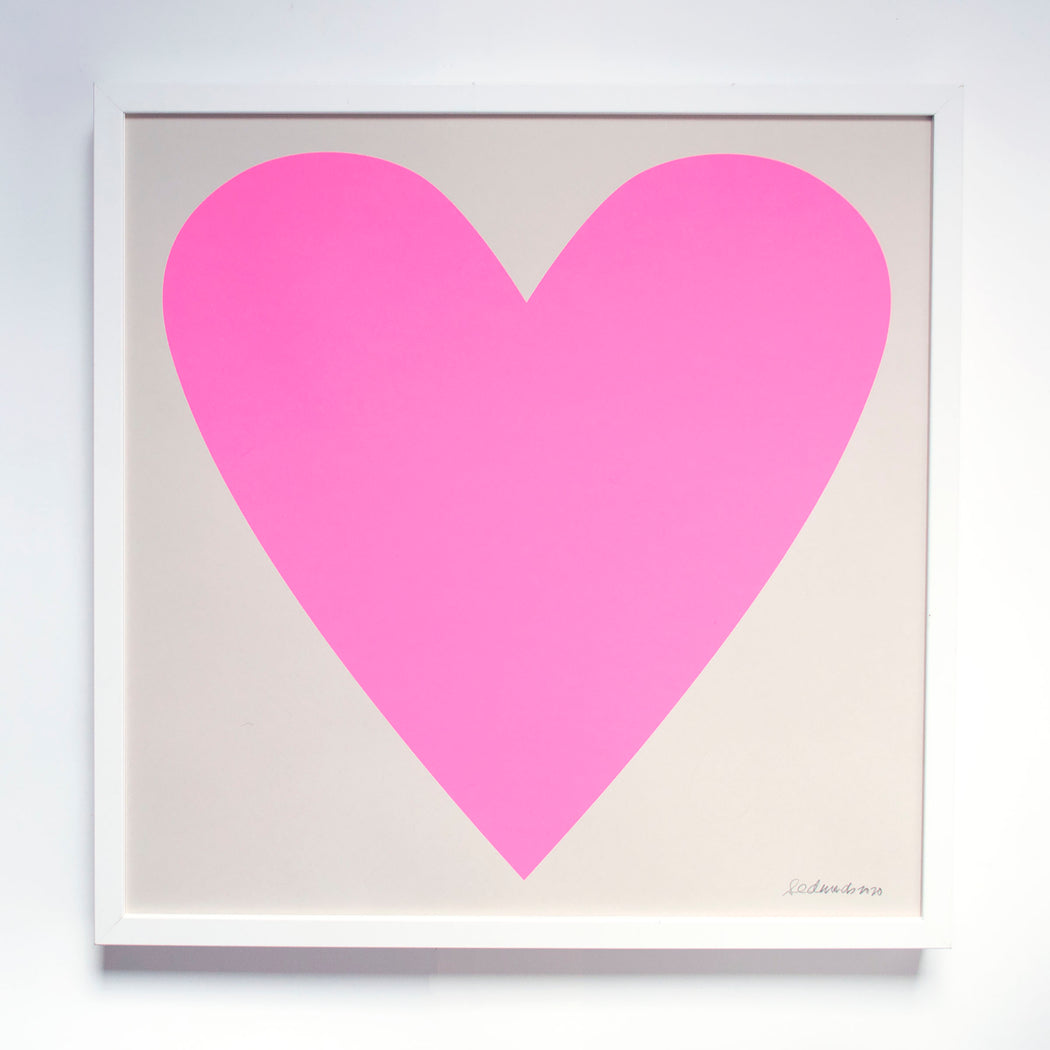 Cool Pink Heart Screenprint