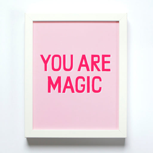 Banquet Workshop's You Are Magic small offset print in blush and neon pinks