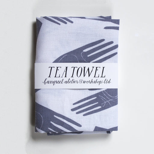 Famous Banquet Palmistry Hands all linen Tea Towel