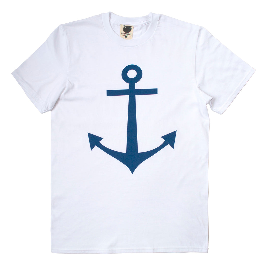 Men's t-shirt printed with a classic navy anchor