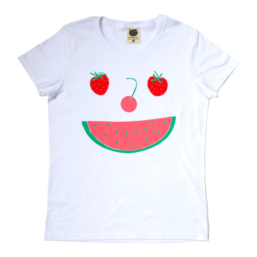 strawberry, watermelon, cherry, fruitface t-shirt