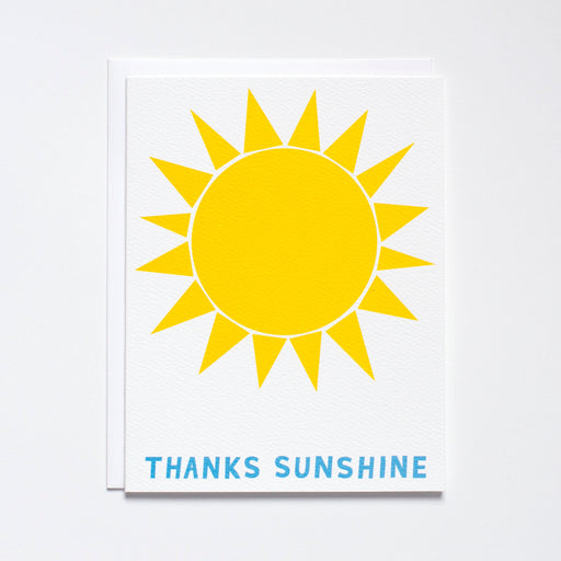 Sun Note Card / Thanks Sunshine Card/ thank you card