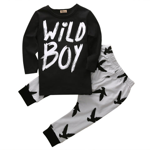 Boys wild boy clothing set