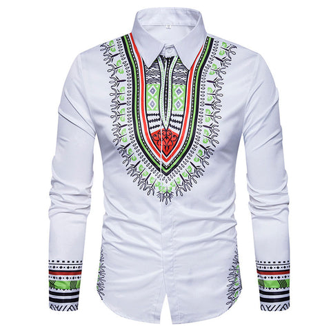 Mens dashiki dress shirt