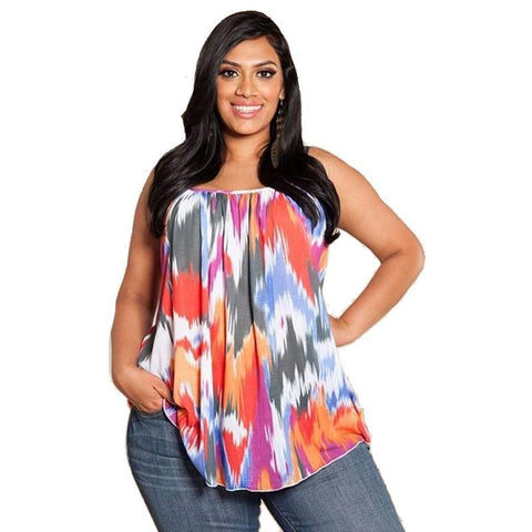 Plus size sleeveless casual top