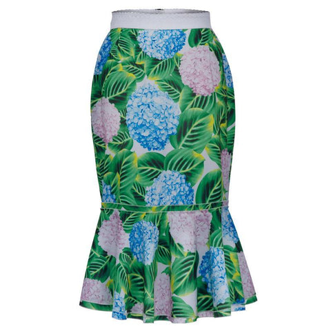 Plus size midi mermaid skirt