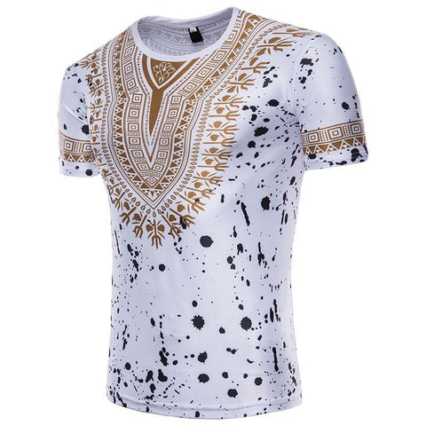 Dashiki design short sleeve shirt