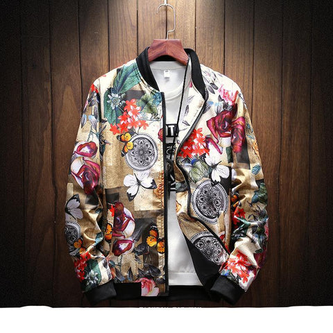 Flower windbreaker jacket