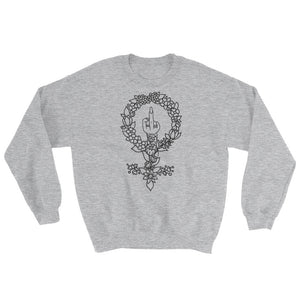 Tattoo Hoodless Sweatshirt - Grey