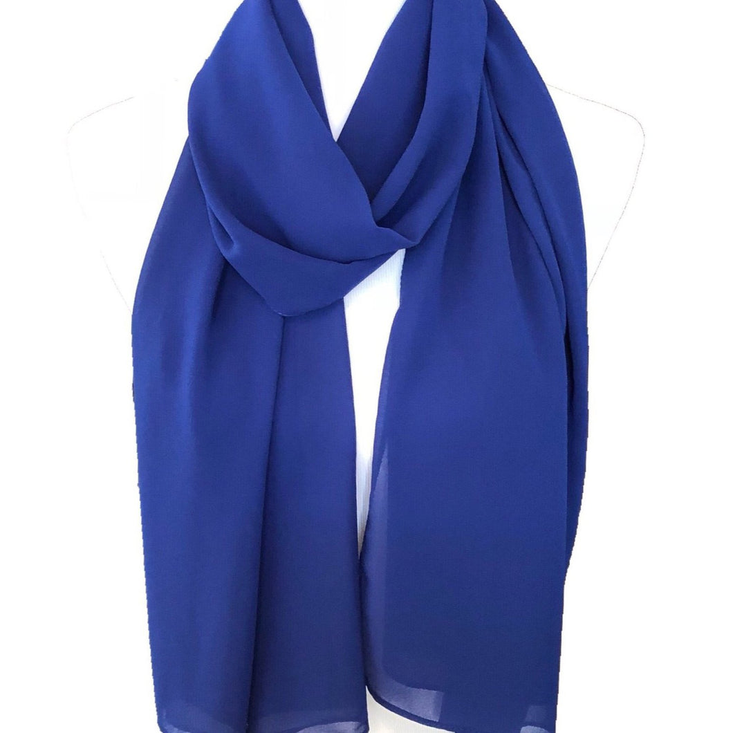 Royal Blue - Solid Pearl Chiffon Hijab
