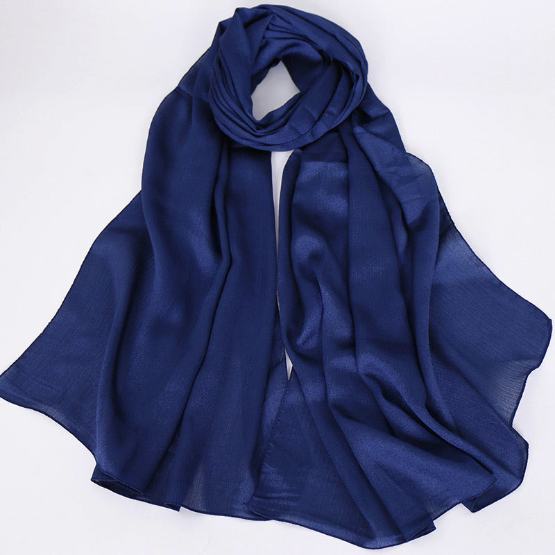 Navy Diamond Chiffon Hijab