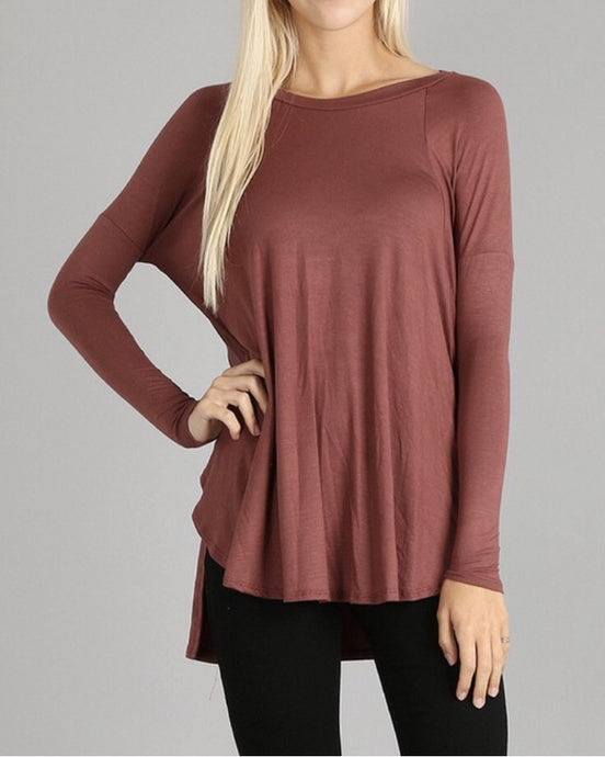 Brick Pale Jersey Tunic