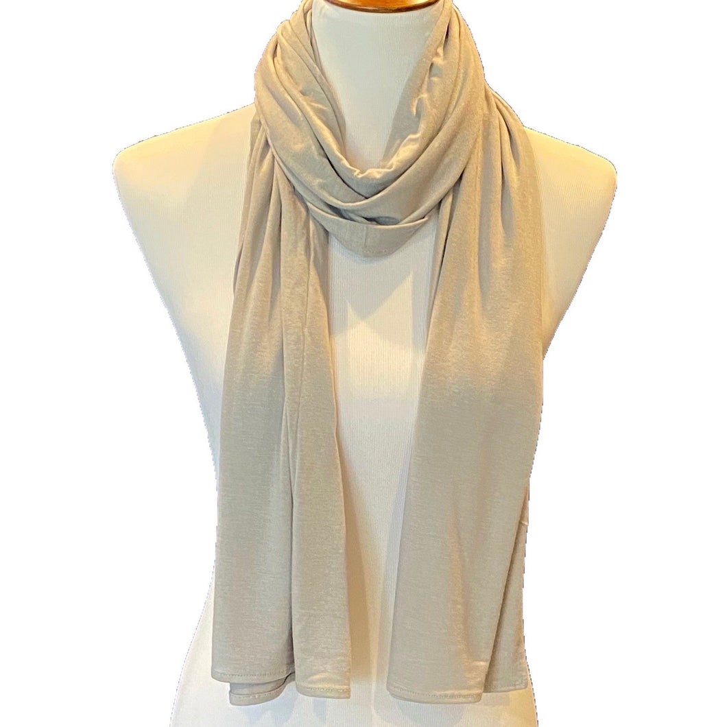 Light Grey Premium Jersey Hijab