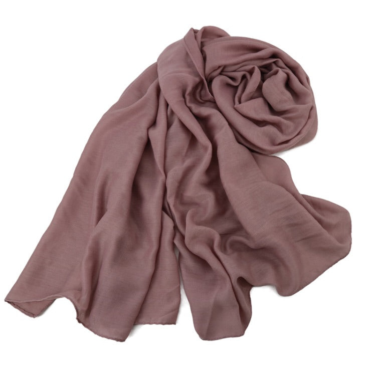 Mauve Cotton Modal Hijab
