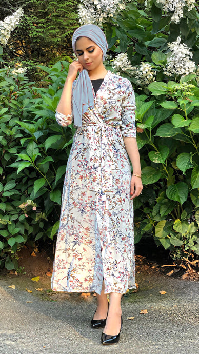 Ivory Endless Blossoms Maxi Cardigan