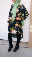 Black Fall Into Floral Tunic