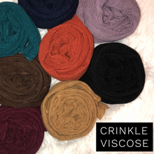 Ink - Crinkle Viscose