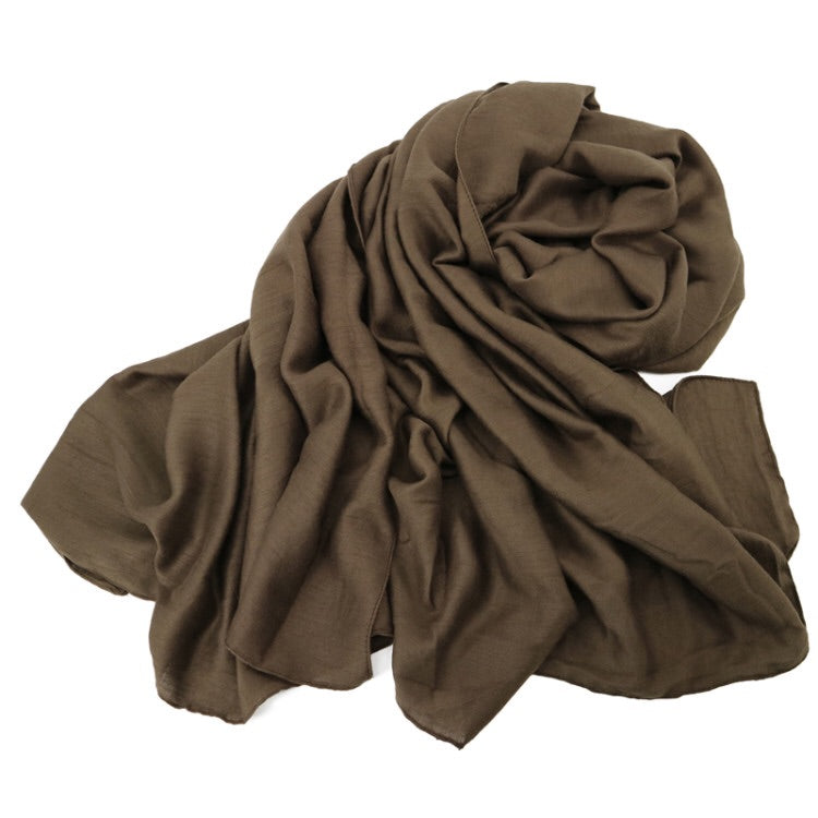 Brown Cotton Modal Hijab