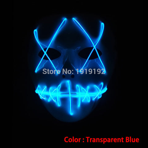 Light Up LED Mask for Halloween Party night club DJ MASK
