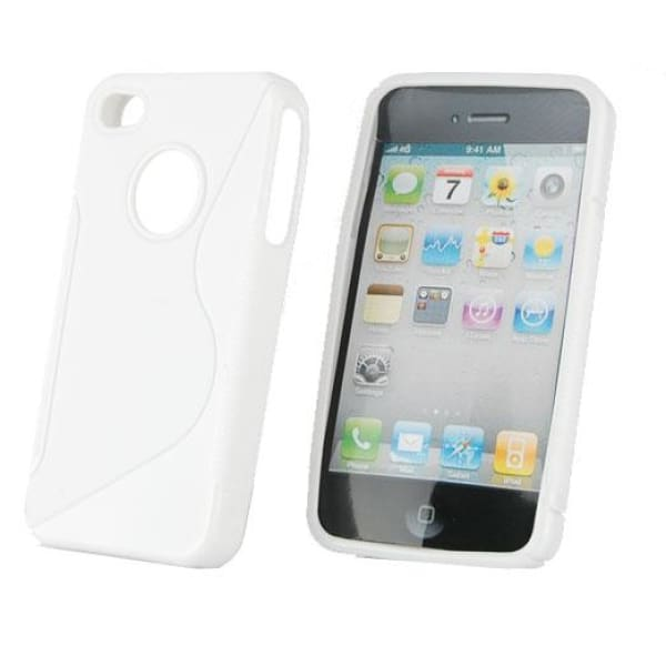 C2 Soft TPU Hard Case Cover for iPhone 4G - White