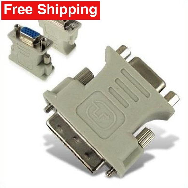 VGA 15 Pin Female to DVI-D Male Adapter Converter LCD - Free Shipping