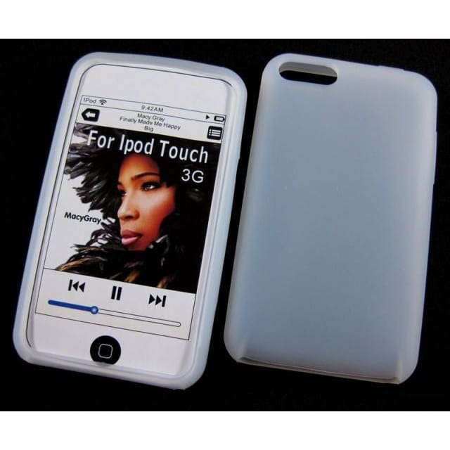 Silicone Cover Case For iTouch iPod Touch 2nd - White