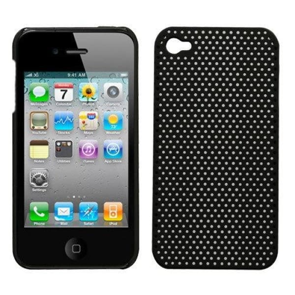 Mesh Net Back Case Skin Cover For iPhone 4 4G - Black