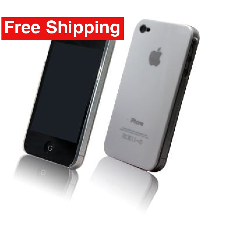 White Snap-on Hard Back Cover case Apple iPhone 4G - Free Shipping
