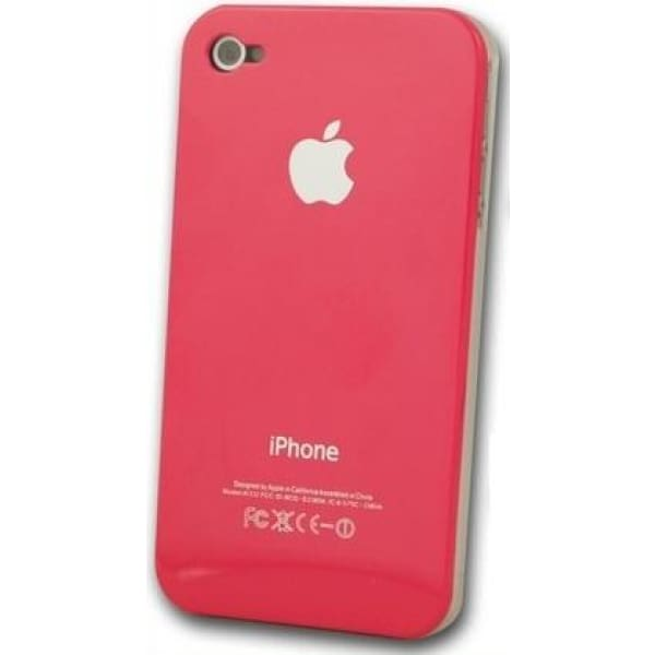 Pink Snap-on Hard Back Cover case Apple iPhone 4 4G
