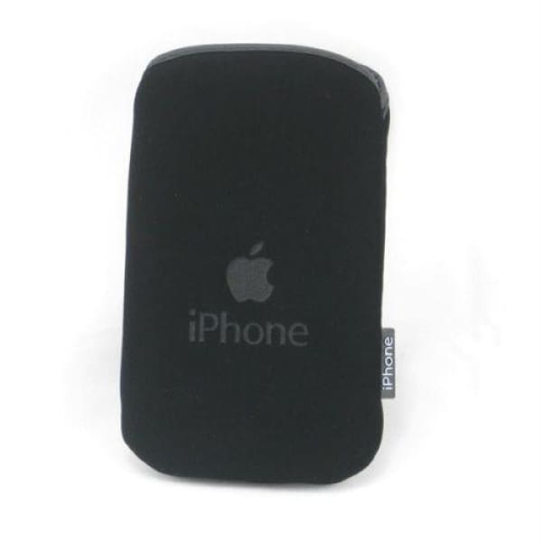 Black Soft Pouch Pocket Case for iPhone iPod Touch