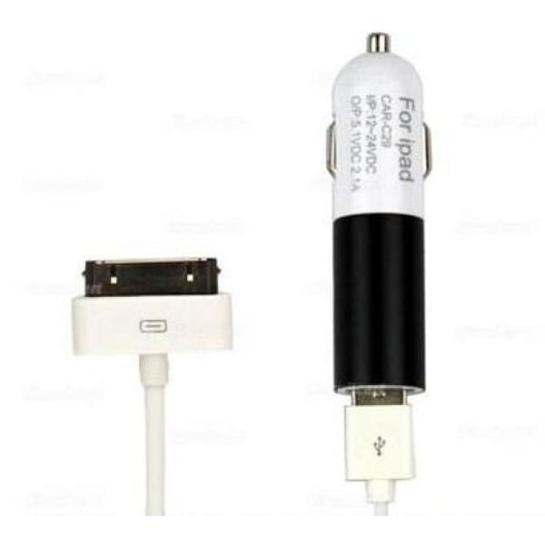 2 in 1 USB car charger & data line for ipad