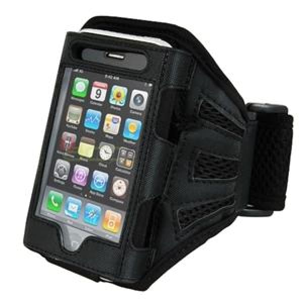 Black Sport Armband Case for iPhone 4 4G