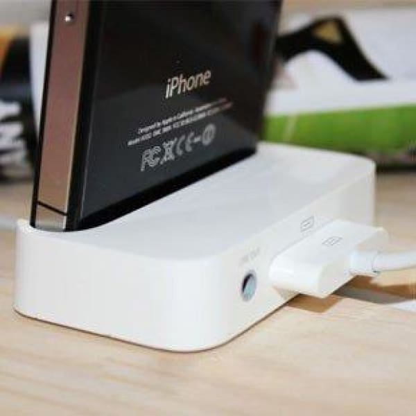 USB Cradle Dock Charger For Apple IPhone 4 4G White