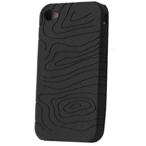Black Silicone Skin Rubber Case Cover for IPHONE 4 4G