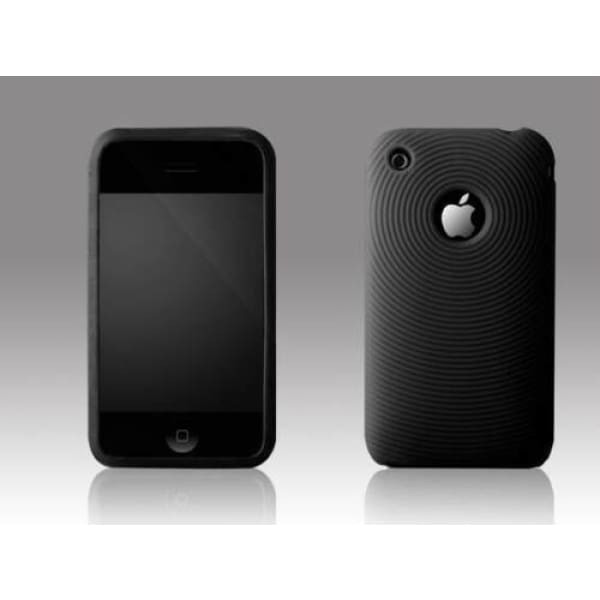 Circle Pattern Case Cover Back for iPhone 3G 3GS Black
