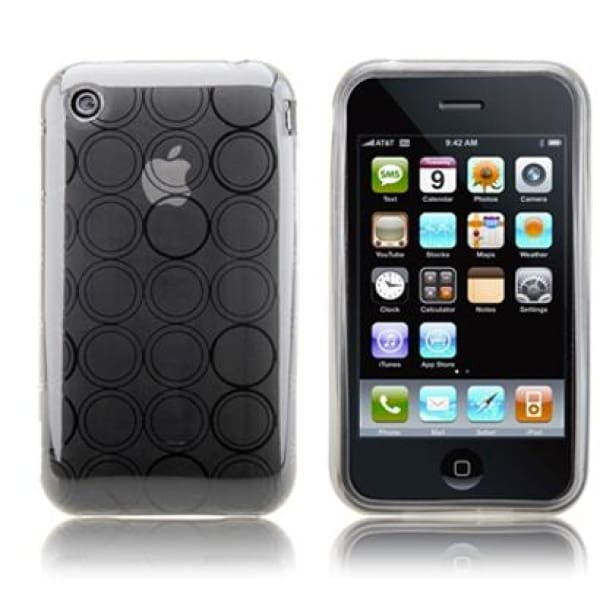 Transparent silicone case circle design for iphone 3g 3gs