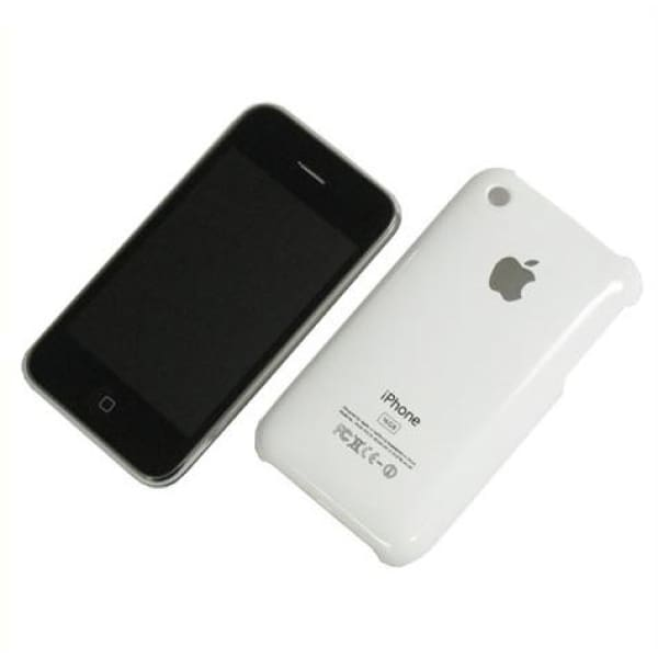 Snap-on Hard Back Cover case for Iphone 3G 3GS White