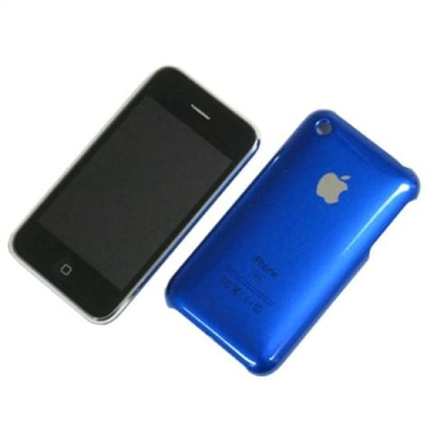 Snap-on Hard Back Cover case for Iphone 3G 3GS Blue