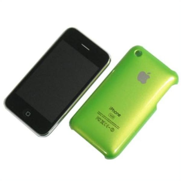 Snap-on Hard Back Cover case for Iphone 3G 3GS Green