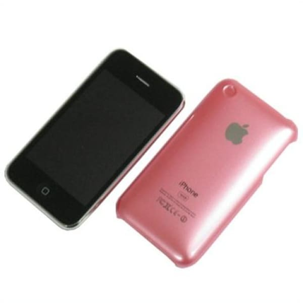 Snap-on Hard Back Cover case for Iphone 3G 3GS Pink
