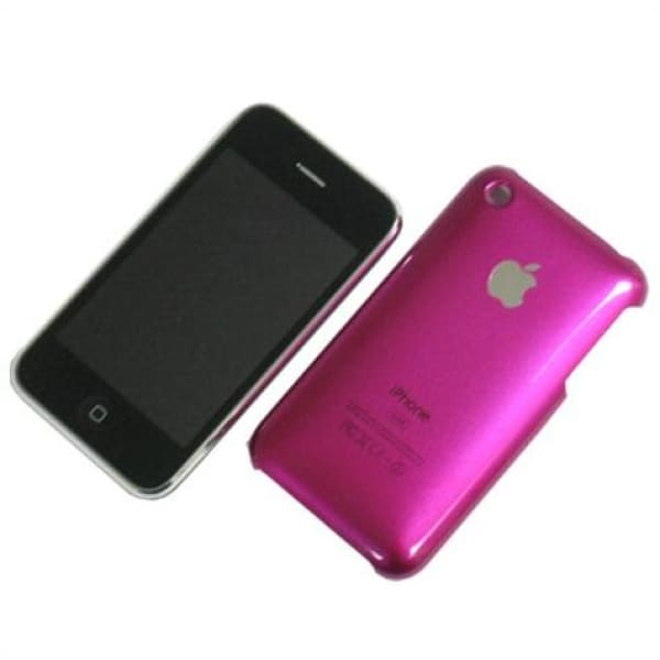 Snap-on Hard Back Cover case for Iphone 3G 3GS Magenta
