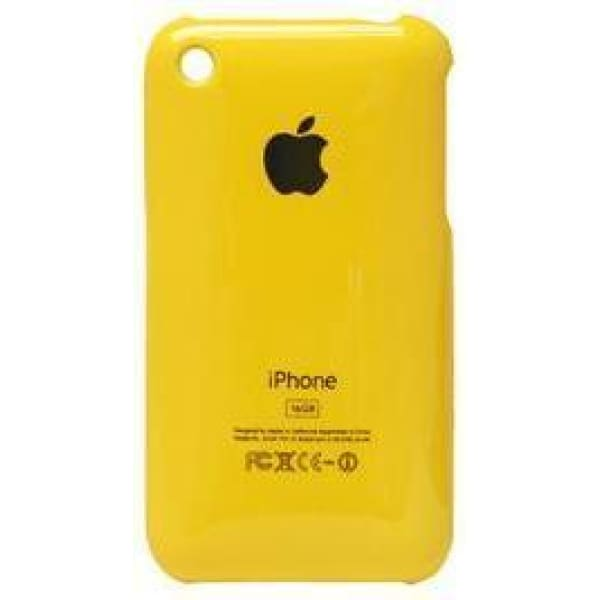 Snap-on Hard Back Cover case for Iphone 3G 3GS Yellow