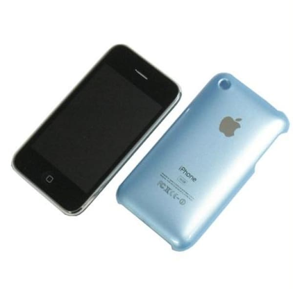 Snap-on Hard Back Cover case for Iphone 3G 3GS Light Blue