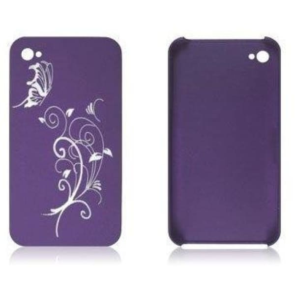 Snap-On Hard Back Cover Case for Apple Iphone 4 Purple A