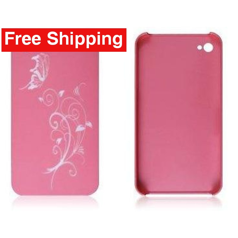 Snap-On Hard Back Cover Case for Apple Iphone 4 Pink B - Free Shipping